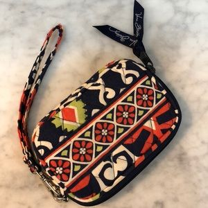 Vera Bradley zip-close wristlet wallet.